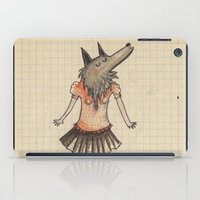 Woman Wolf at school iPad Case