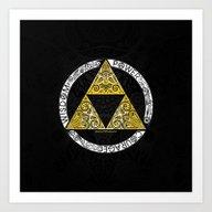 Zelda - Triforce Circle Art Print