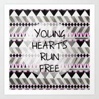 Young Hearts Art Print