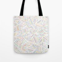 Abstraction Linear Rainbow Tote Bag