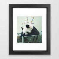 Sleepy Panda Framed Art Print