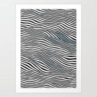 Ocean Of Lines Art Print