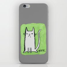 Nope Kitty iPhone & iPod Skin