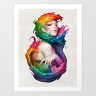 Angel Of Colors Art Print
