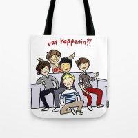 One Direction 'Vas Happenin' Cartoon Tote Bag