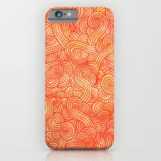 Red and orange swirls doodles Slim Case iPhone 6s