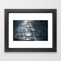 Wet Streets Framed Art Print