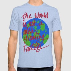 the world is not a wish granting Mens Fitted Tee Athletic Blue SMALL