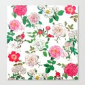Pattern of vintage rose Canvas Print