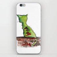 Reflective Zombie Cat iPhone & iPod Skin