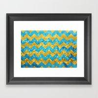 Blueberry Twist Chevron Framed Art Print