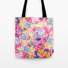 Abstract Watercolor Flowers Tote Bag