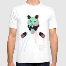 Panda with F$%king Lazers Mens Fitted Tee White SMALL