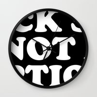 Suck sex is not an option Wall Clock