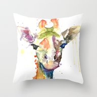 Giraffe Dreams Throw Pillow