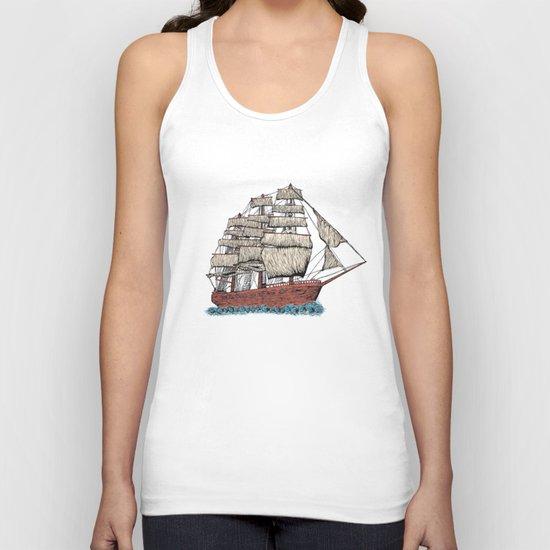 Sailing ship Unisex Tank Top
