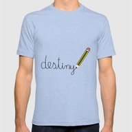 Write Your Own Destiny Mens Fitted Tee Tri-Blue SMALL
