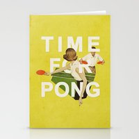 Time For Pong Stationery Cards