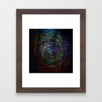 Magic In The Forest Abst… Framed Art Print