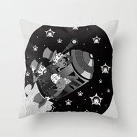 A trip to the moon Throw Pillow