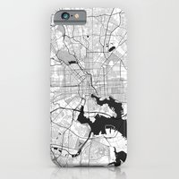 iPhone Cases featuring Baltimore G by City Map Art