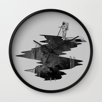 Space Diving Wall Clock