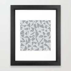 Abstract Lines B Grey Framed Art Print