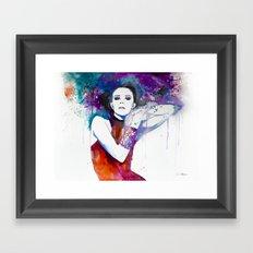 Colorful Girl  Framed Art Print