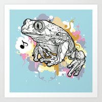 Melodic Frog Art Print
