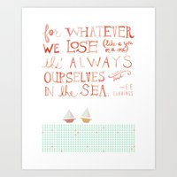 For Whatever We Lose. .. Art Print