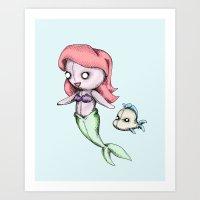 Plush Mermaid Art Print