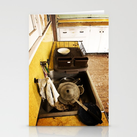 Dirty Dishes Stationery Card
