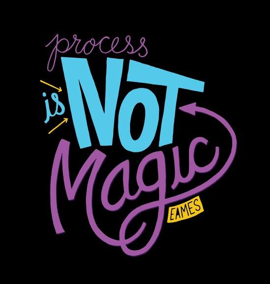 Process is Not Magic  Canvas Print