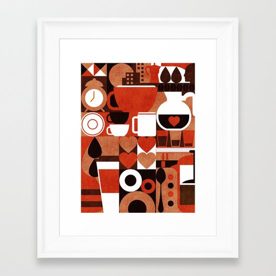 Coffee Story Framed Art Print