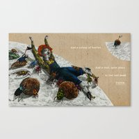 A colony of beetles Canvas Print