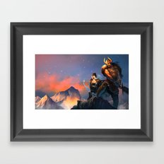 League of Legends-Tryndamere and Ashe Framed Art Print