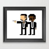 Pulp Pixel Framed Art Print