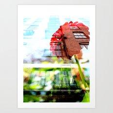 Six Story Dahlia Art Print