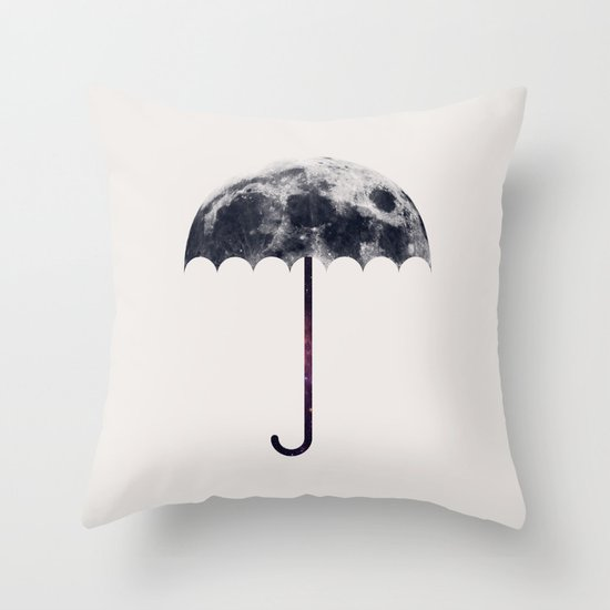 Space Umbrella II Throw Pillow