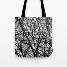 Natural Trees Map Tote Bag