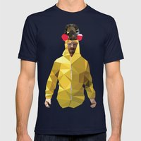 Walter White // Breaking Bad Mens Fitted Tee Navy SMALL