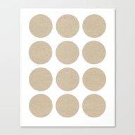 Large Circles II Canvas Print