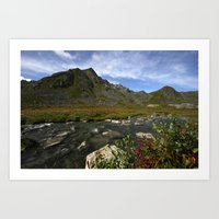 Hatcher Hike - Alaska Art Print