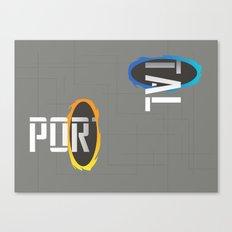 POR---TAL Canvas Print