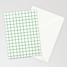 Grid (Forest Green/White) Stationery Cards