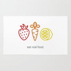 Eat Real Food. (light) Rug