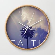 Palm Tree Faith Wall Clock