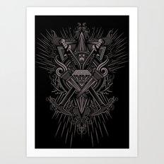 Crest Craft Black Art Print
