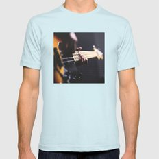 Guitarist Mens Fitted Tee Light Blue SMALL