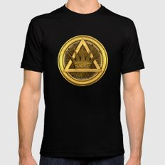 Masonic  Mens Fitted Tee Black SMALL